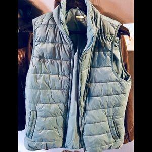women's vest turquoise color